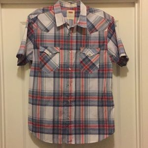 Levi's Western Style Plaid Shirt